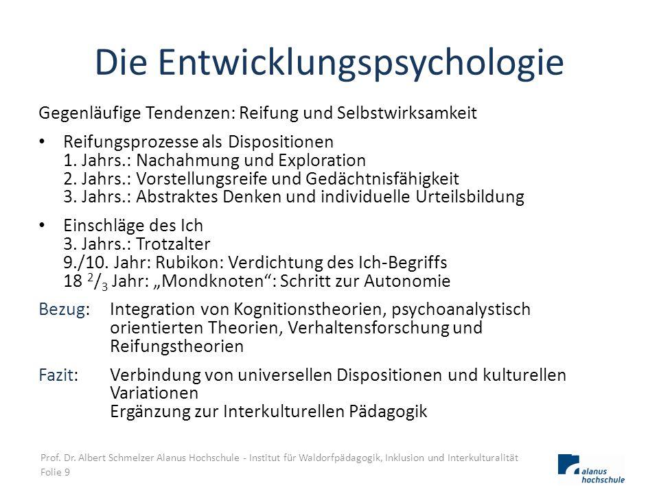 Die Entwicklungspsychologie Gegenläufige Tendenzen: Reifung und Selbstwirksamkeit Reifungsprozesse als Dispositionen 1. Jahrs.: Nachahmung und Explora