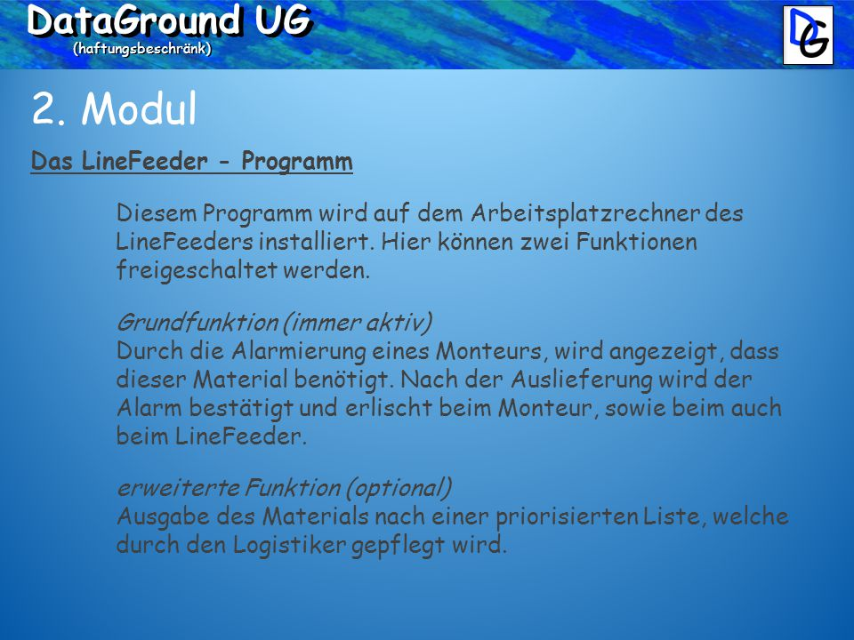 DataGround UG (haftungsbeschränk) 3.