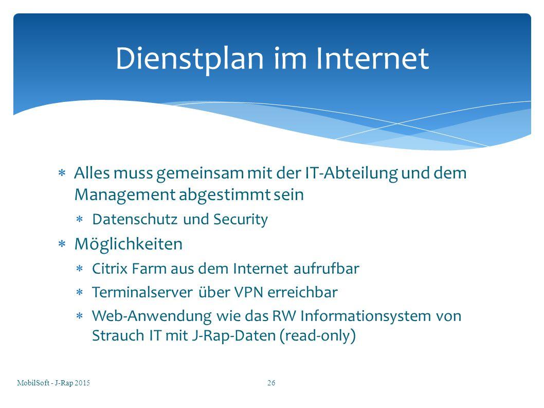 MobilSoft - J-Rap 201527 Internetanbindung
