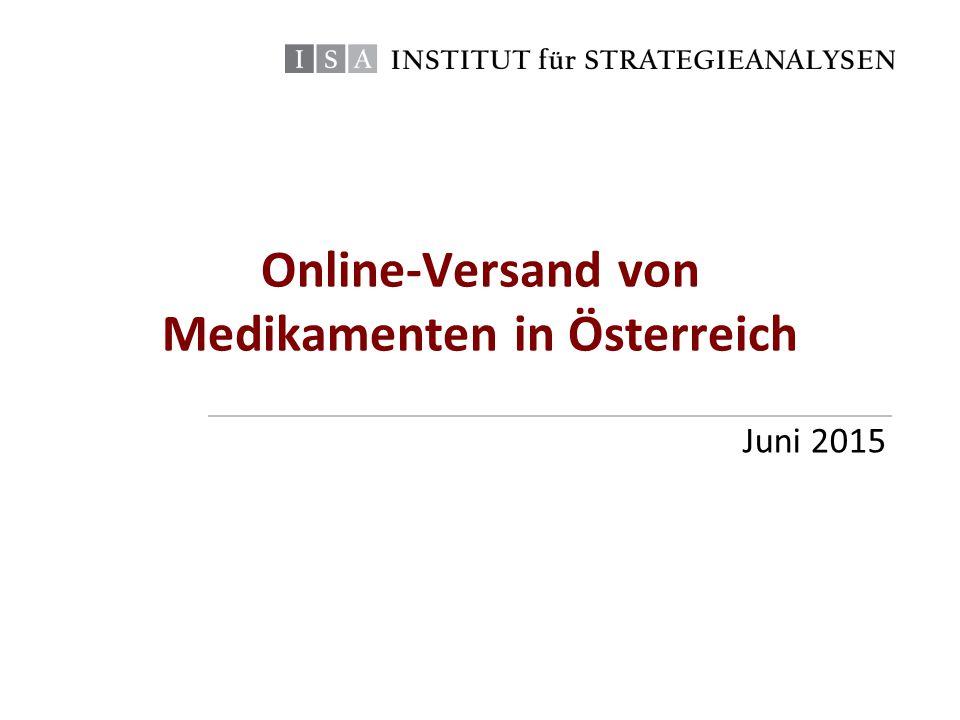Online-Versand von Medikamenten in Österreich Juni 2015