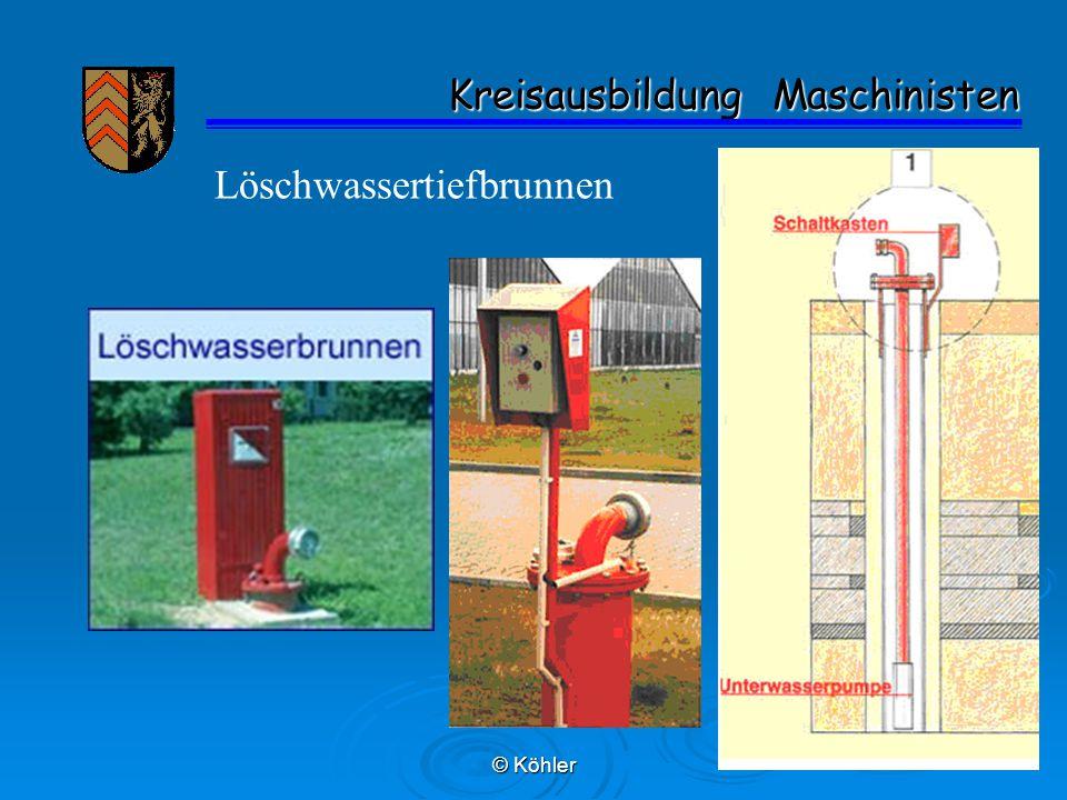 © Köhler Kreisausbildung Maschinisten Kreisausbildung Maschinisten Löschwassertiefbrunnen