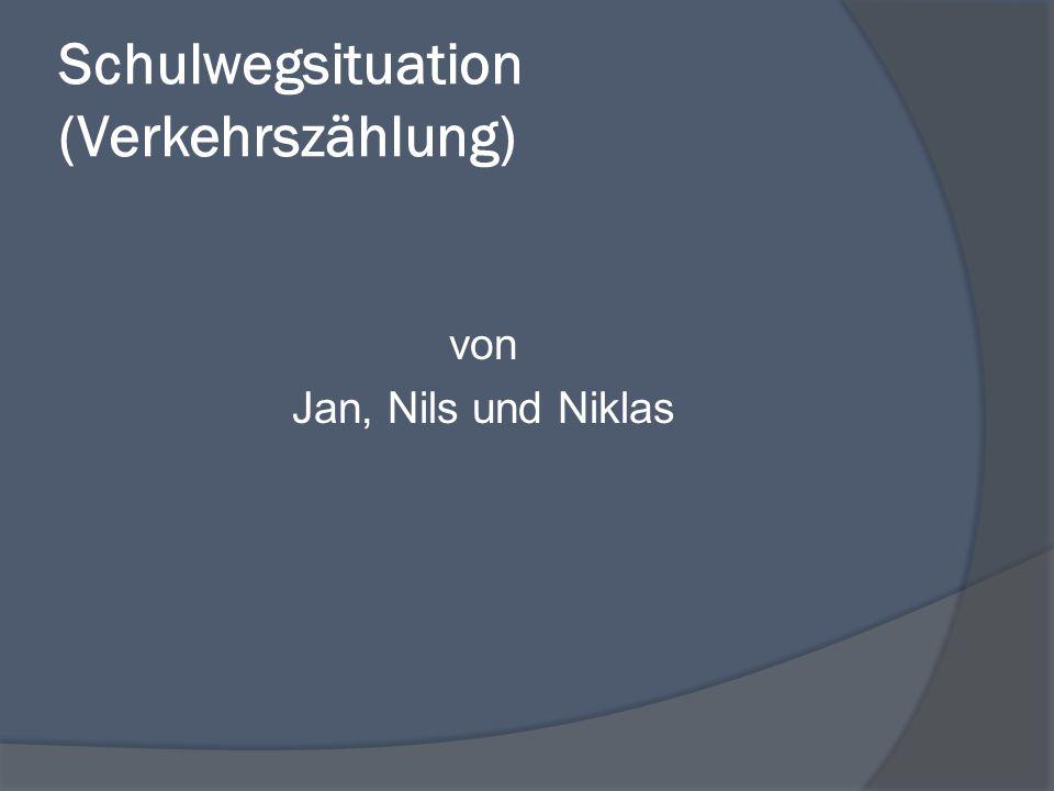 Schulwegsituation (Verkehrszählung) von Jan, Nils und Niklas
