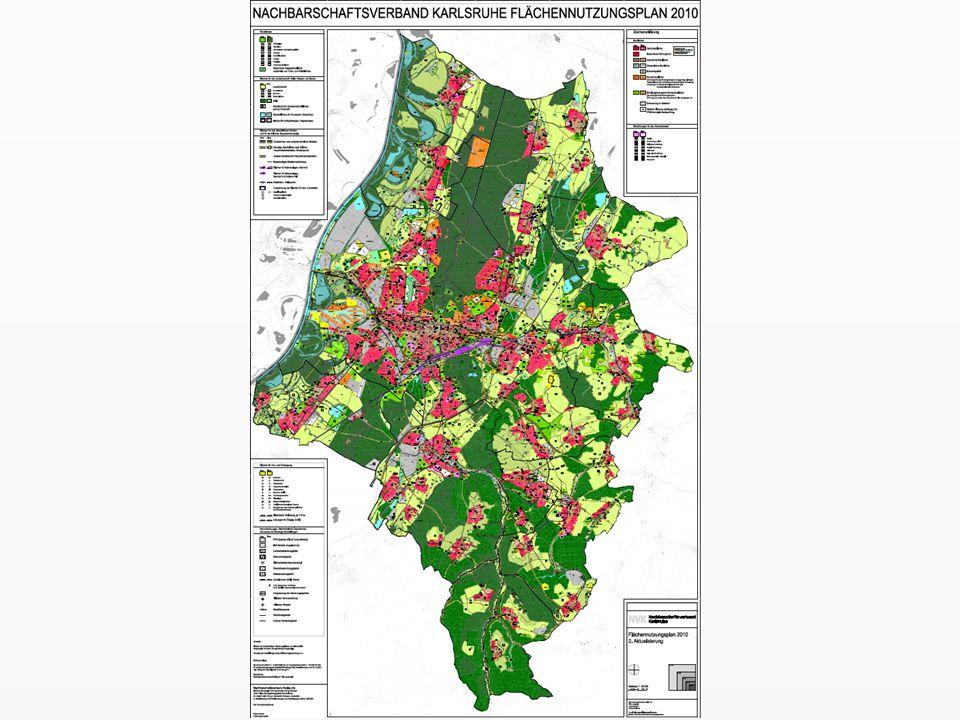 Flächennutzungsplan Nachbarschaftsverband Karlsruhe Gesamtfläche: 502 km² = 50.200 ha System: StadtCAD auf AutoCAD Map