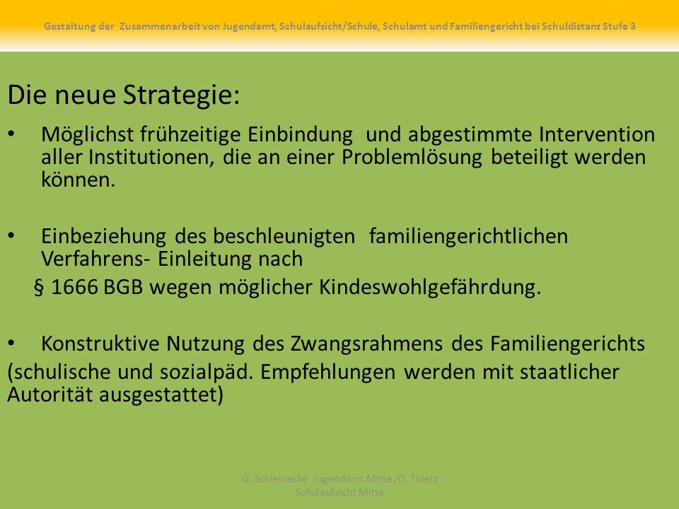 Die neue Strategie: Möglichst frühzeitige Einbindung und abgestimmte Intervention aller Institutionen, die an einer Problemlösung beteiligt werden können.