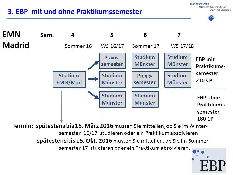 3. EBP mit und ohne Praktikumssemester EMN Sem.