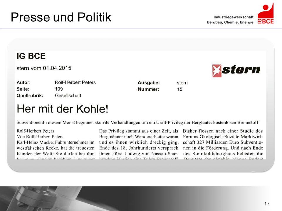 17 Presse und Politik