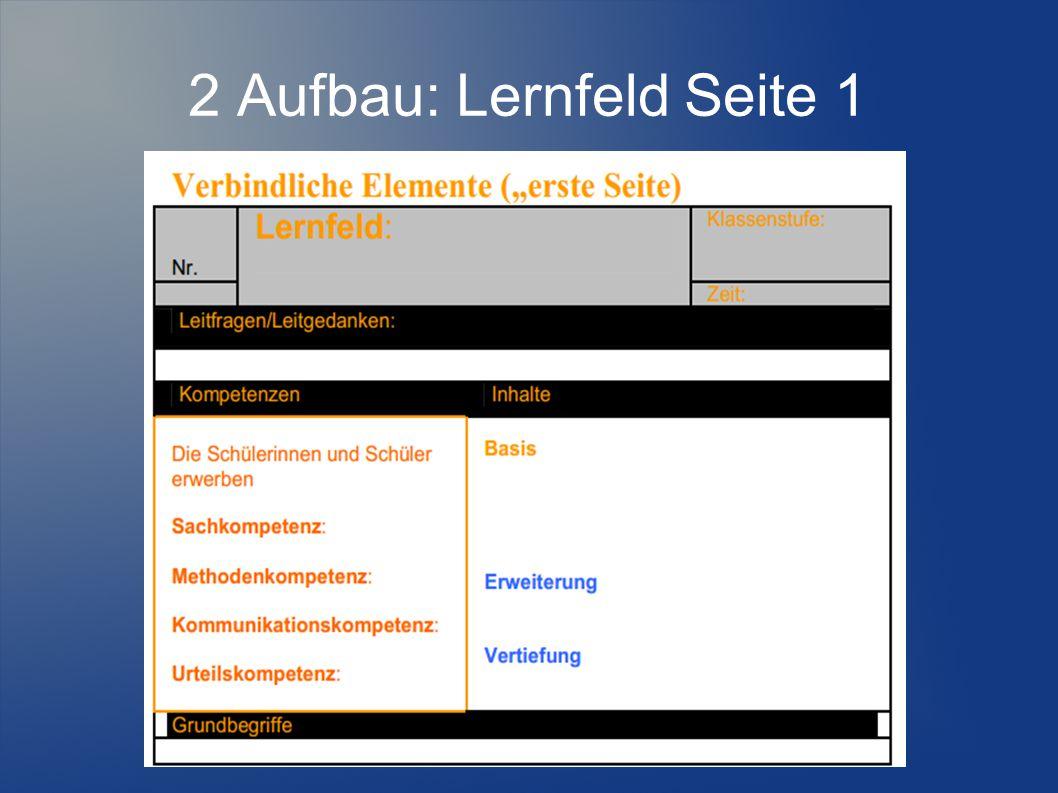 2 Aufbau: Lernfeld Seite 1