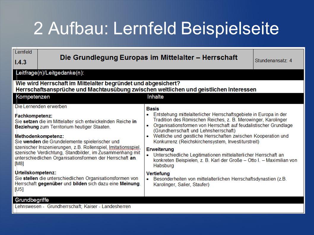 2 Aufbau: Lernfeld Beispielseite