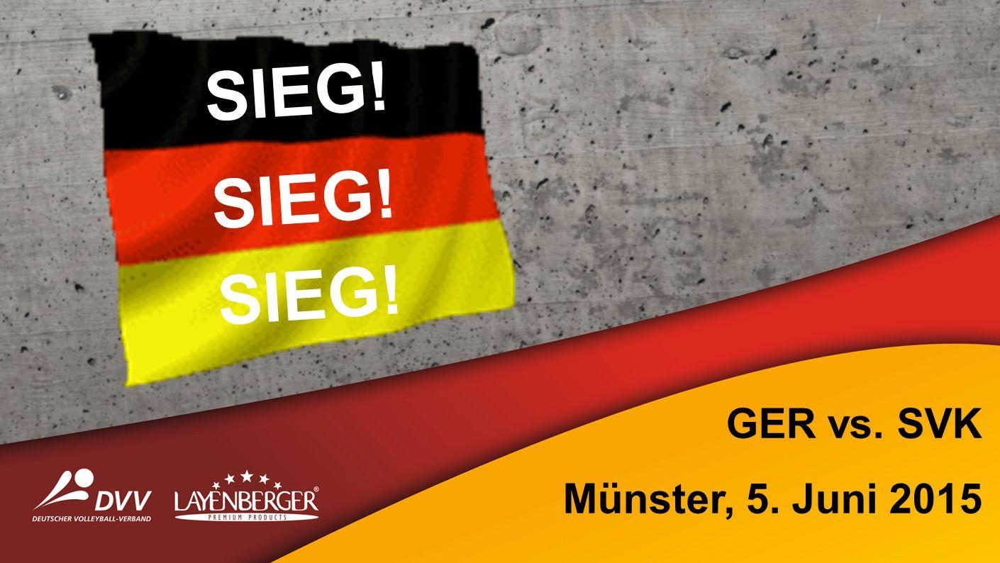SIEG! GER vs. SVK Münster, 5. Juni 2015