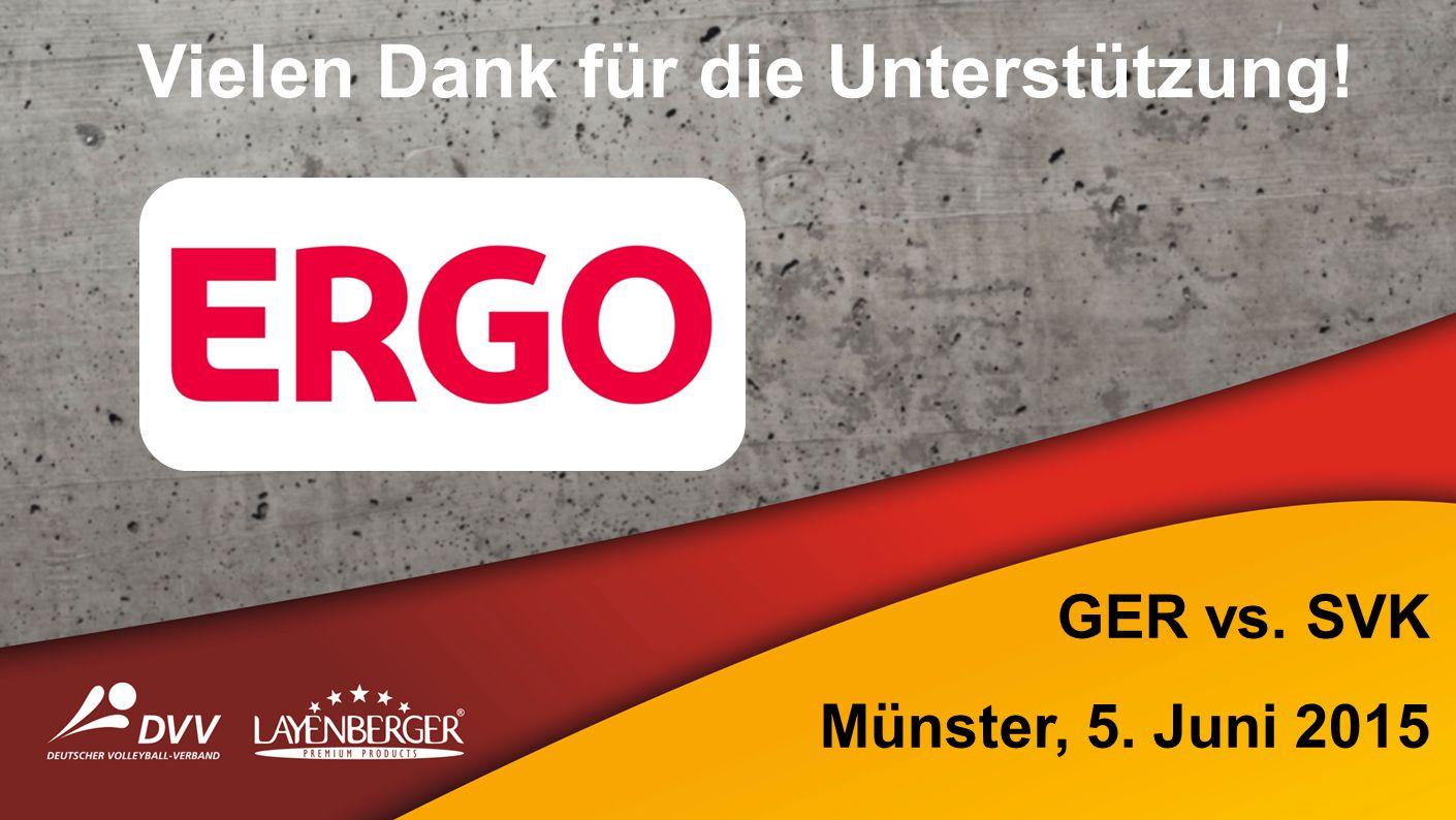 Vielen Dank für die Unterstützung! GER vs. SVK Münster, 5. Juni 2015