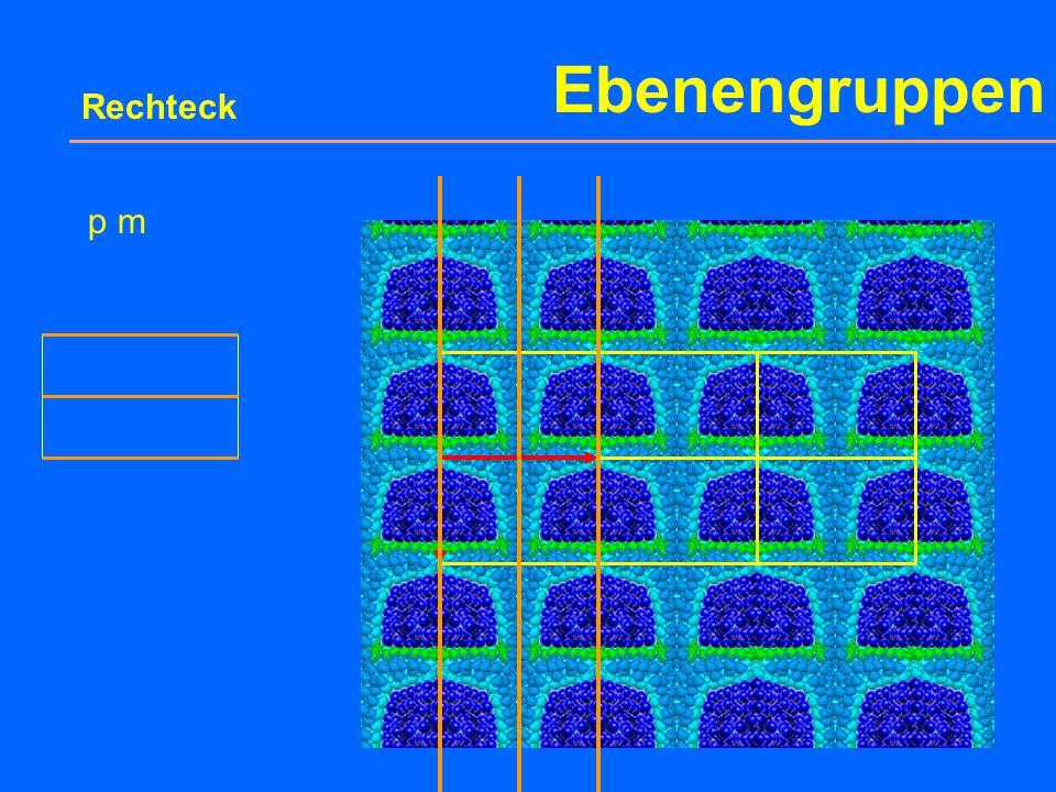 Ebenengruppen 1 p 1 2 p 2 Parallelogramm Punktgruppe Ebene Raumgruppe