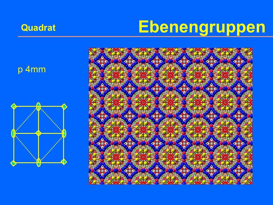 Ebenengruppen Quadrat p 4