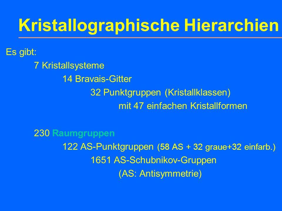 """Kapitel 10: 10.1Kristallographische Gruppen 10.2Raumgruppen (eine detaillierte Vorstellung kann und soll nicht Thema einer """"Einführung in die Kristall"""