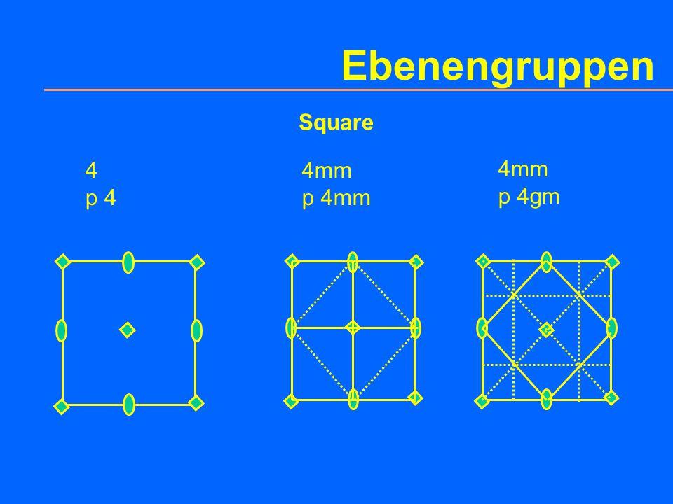 Ebenengruppen Quadrat p 4gm