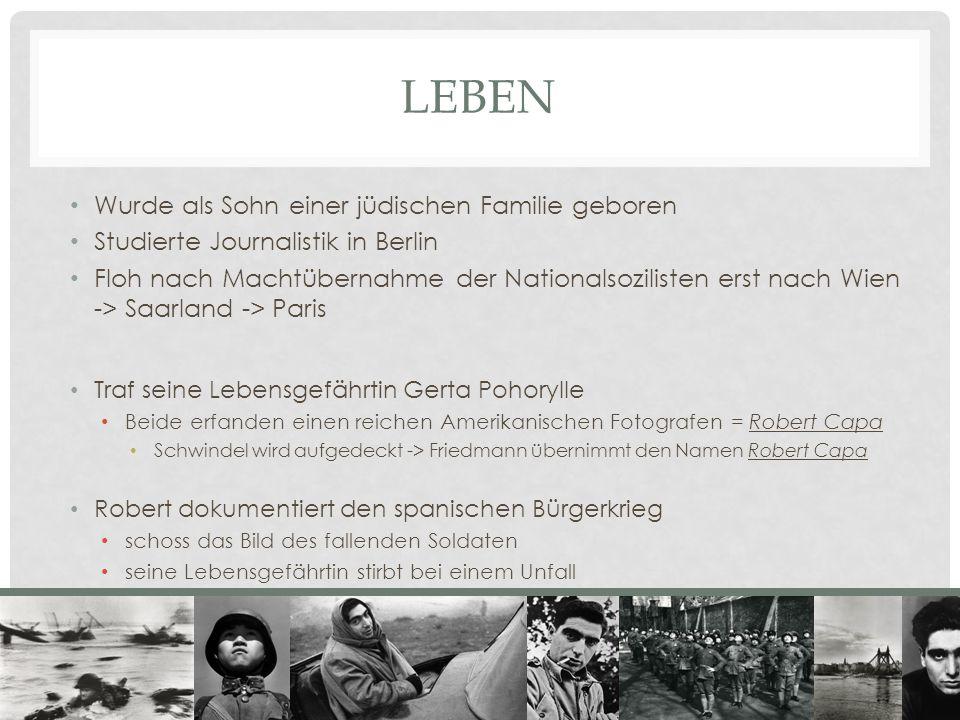 LEBEN Wurde als Sohn einer jüdischen Familie geboren Studierte Journalistik in Berlin Floh nach Machtübernahme der Nationalsozilisten erst nach Wien -