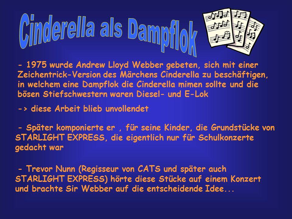 Andrew Lloyd Webber wurde 1948 geboren. Zu seinen Werken zählen, außer STARLIGHT EXPRESS auch noch zahlreiche andere berühmte Musicals, wie z.B CATS,