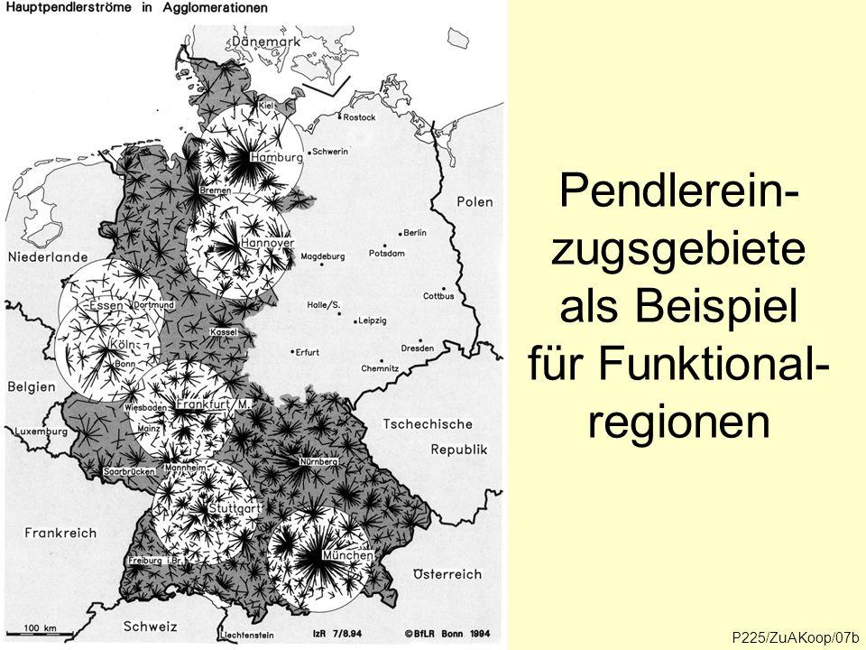P218/ProgReg/14 Außensaum des Salzburger Zentralraumes Quelle: Volkszählung 1991, Berufspendler Anteil der Auspendler an den wohnhaften Beschäftigten (%) Bis unter 5 5 bis <10 10- < 20 20-<40 40 und mehr P225/ZuAKoop/08 Berufspendler 1991
