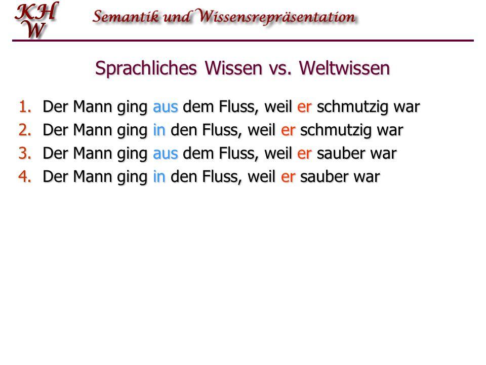Sprachliches Wissen vs.