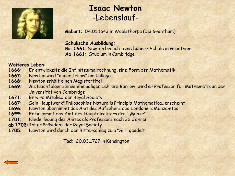 issac newton by sunny manson on prezi - Isaac Newton Lebenslauf