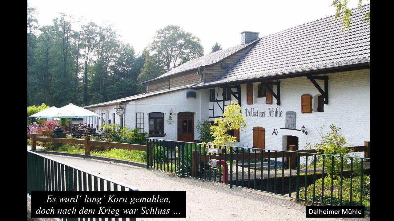 Dalheimer Mühle Es wurd' lang' Korn gemahlen, doch nach dem Krieg war Schluss …