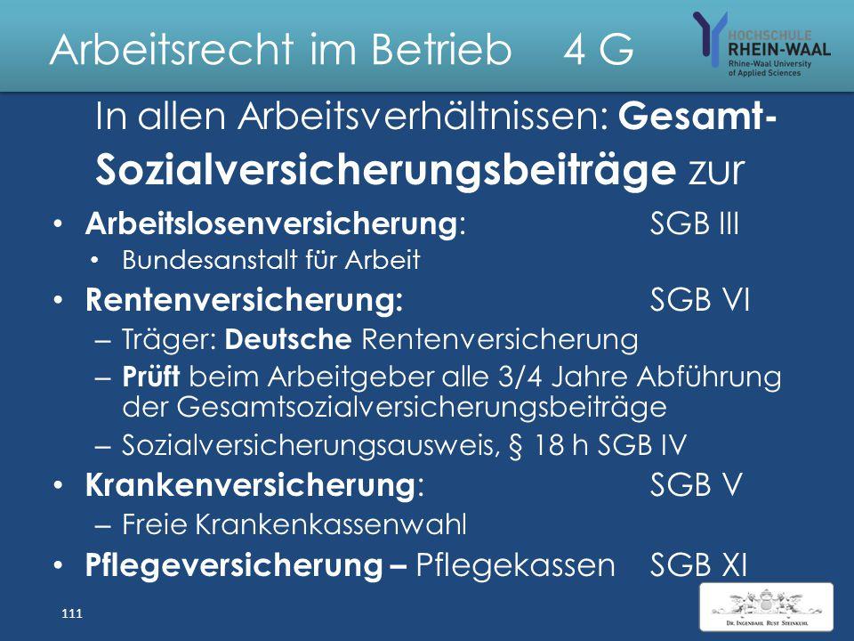 Arbeitsrecht im Betrieb 4 Sozialgesetzbücher SGB SGB IAllgemeiner Teil SGB II Grundsicherung für Arbeitssuchen- de: Arbeitslosengeld II – Harz IV SGB