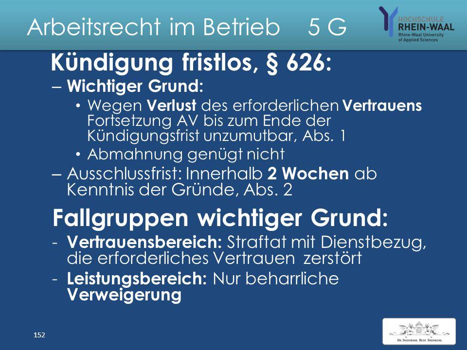 Arbeitsrecht im Betrieb 5 Allgemeiner Kündigungsschutz & Kündigungsschutzklage 151