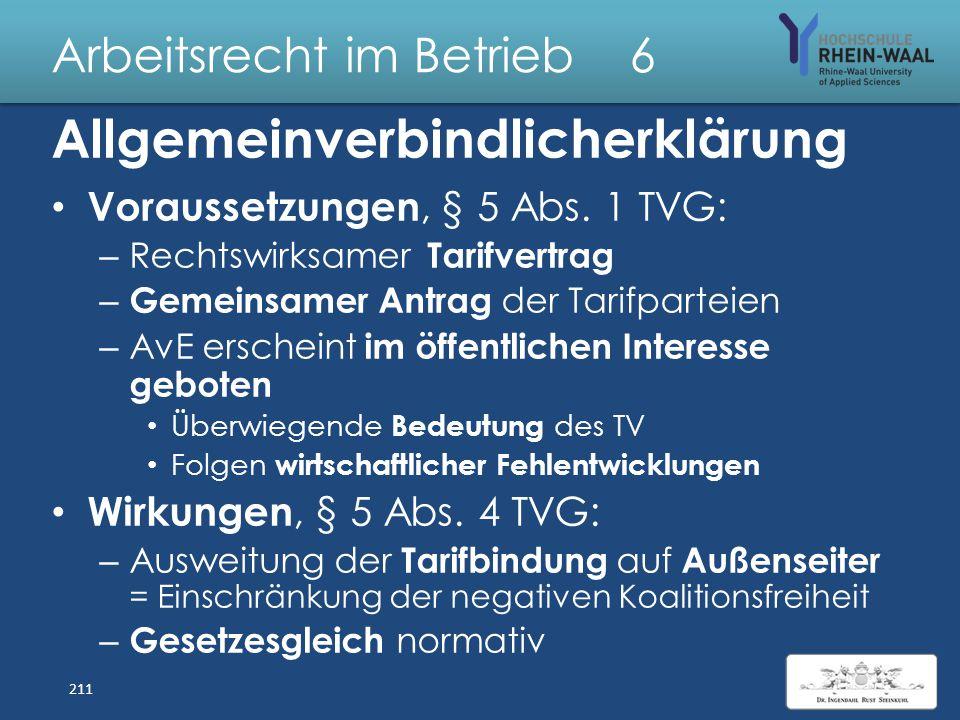 Arbeitsrecht im Betrieb 6 Bezugnahme-Klauseln: Arbeitsvertrag verweist auf Tarifverträge Arten der Bezugnahme: – Statisch: Verweist auf den Tarifvertr
