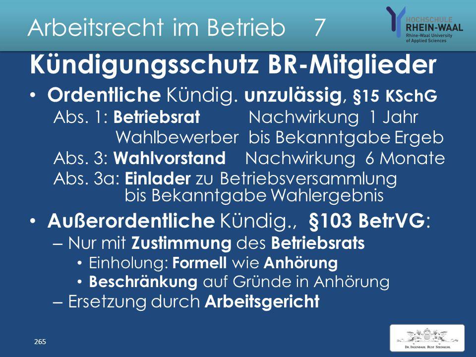Arbeitsrecht im Betrieb 7 Fehlerhafte Willensbildung BR Anforderungen an Beschlussfassung, § 33: – Sitzung des Betriebsrats Ordnungsgemäße Ladung mit