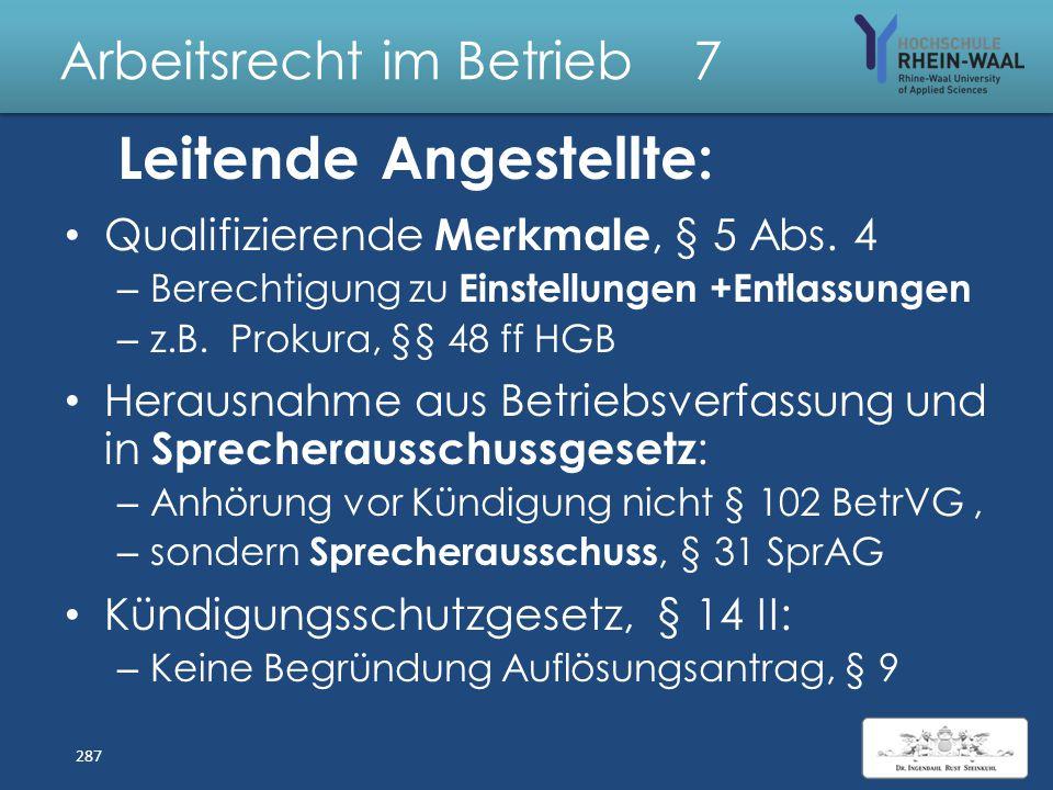 Arbeitsrecht im Betrieb 7 S Lösung: Kündigung Betriebsrats 1. Zustimmung Betriebsrates 1.nur zu außerordentlicher Kündigung, 2.keine Auslegung als ord