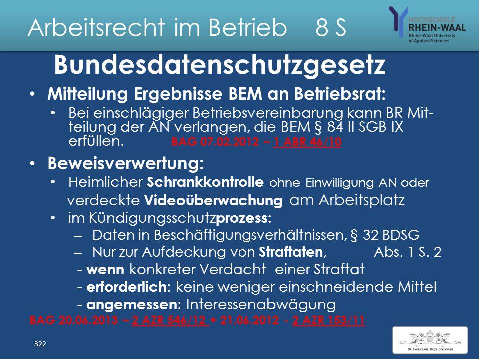 Arbeitsrecht im Betrieb 8 S Berufsbildungsgesetz, BBiG Kann der Auszubildende nach bestandener Prüfung zur Übernahme in ein Arbeitsverhältnis verpflic