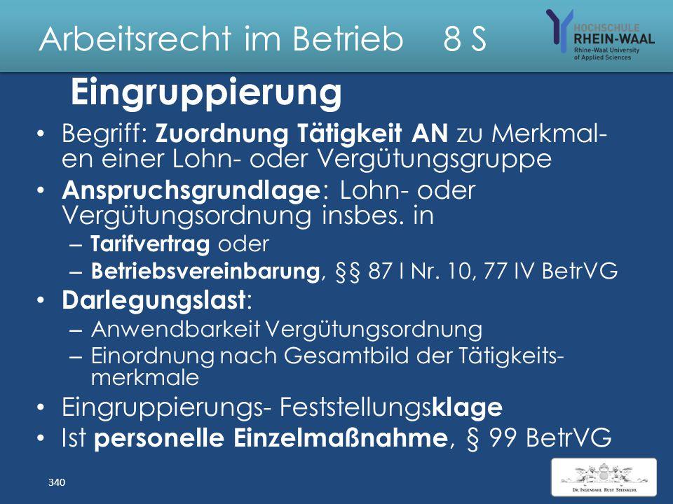 Arbeitsrecht im Betrieb 8 S Lösung: Kettenbefristung -Kücük Überprüfung BAG (nach Vorlage EuGH): – § 14 Abs. 1, hier Z. 3 TzBfG: Zur Vertretung eines