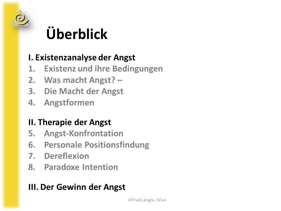 1.Existenz und ihre Bedingungen Ziel der Existenzanalyse: Leben mit innerer Zustimmung I.