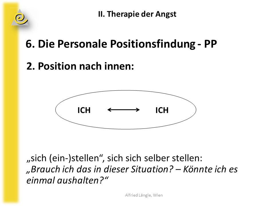 """6. Die Personale Positionsfindung - PP 2. Position nach innen: """"sich (ein-)stellen"""", sich sich selber stellen: """"Brauch ich das in dieser Situation? –"""