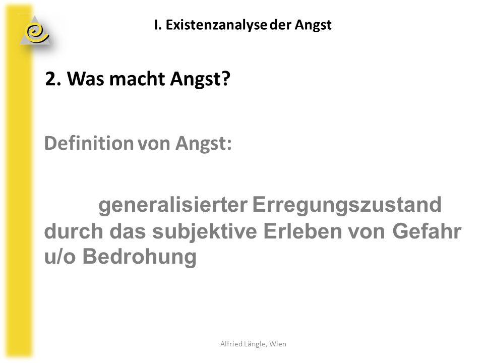 Erwartungsangstschleife Alfried Längle, Wien II.Therapie der Angst 8.