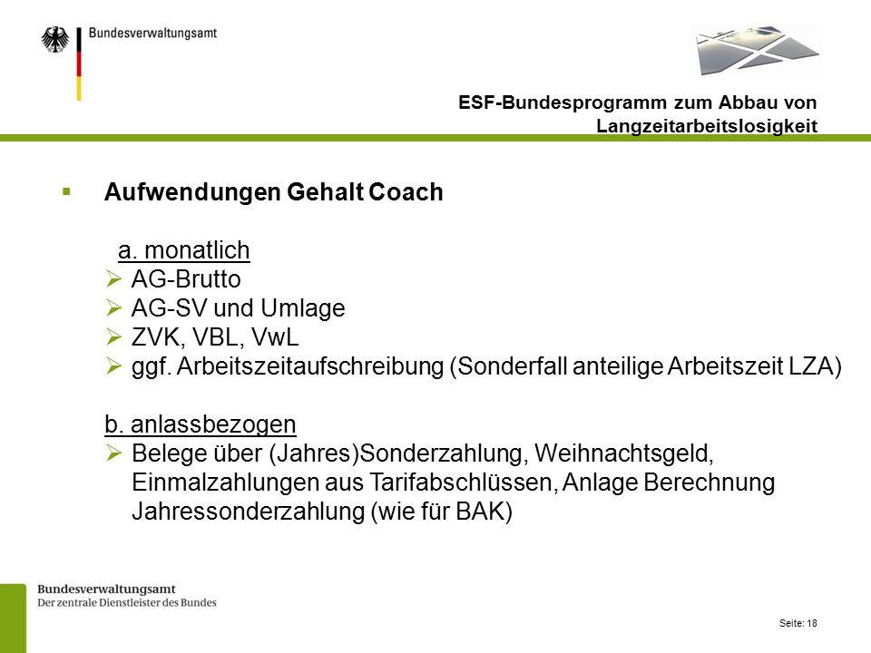 Seite: 18  Aufwendungen Gehalt Coach a.