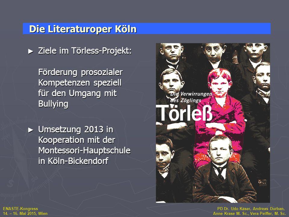 ENASTE-Kongress PD Dr. Udo Käser, Andreas Durban, 14. – 16. Mai 2015, Wien Anne Krase M. Sc., Vera Peiffer, M. Sc. ► Ziele im Törless-Projekt: Förderu