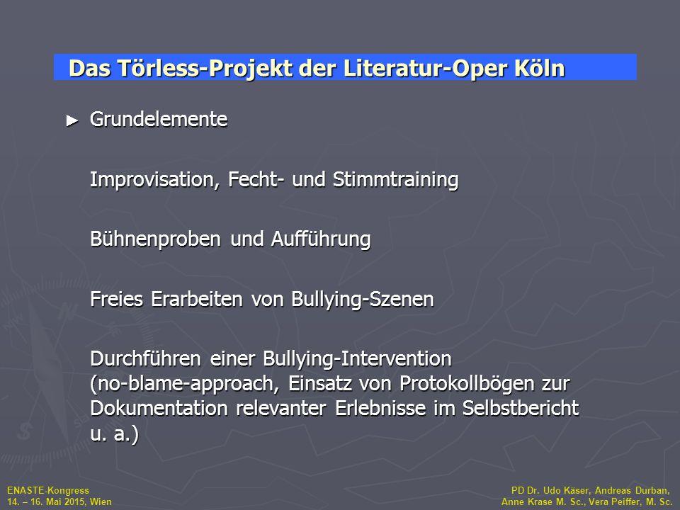 ENASTE-Kongress PD Dr. Udo Käser, Andreas Durban, 14. – 16. Mai 2015, Wien Anne Krase M. Sc., Vera Peiffer, M. Sc. ► Grundelemente Improvisation, Fech