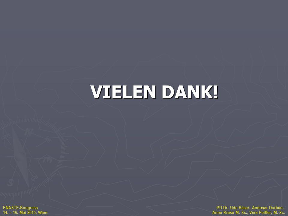 ENASTE-Kongress PD Dr. Udo Käser, Andreas Durban, 14. – 16. Mai 2015, Wien Anne Krase M. Sc., Vera Peiffer, M. Sc. VIELEN DANK!
