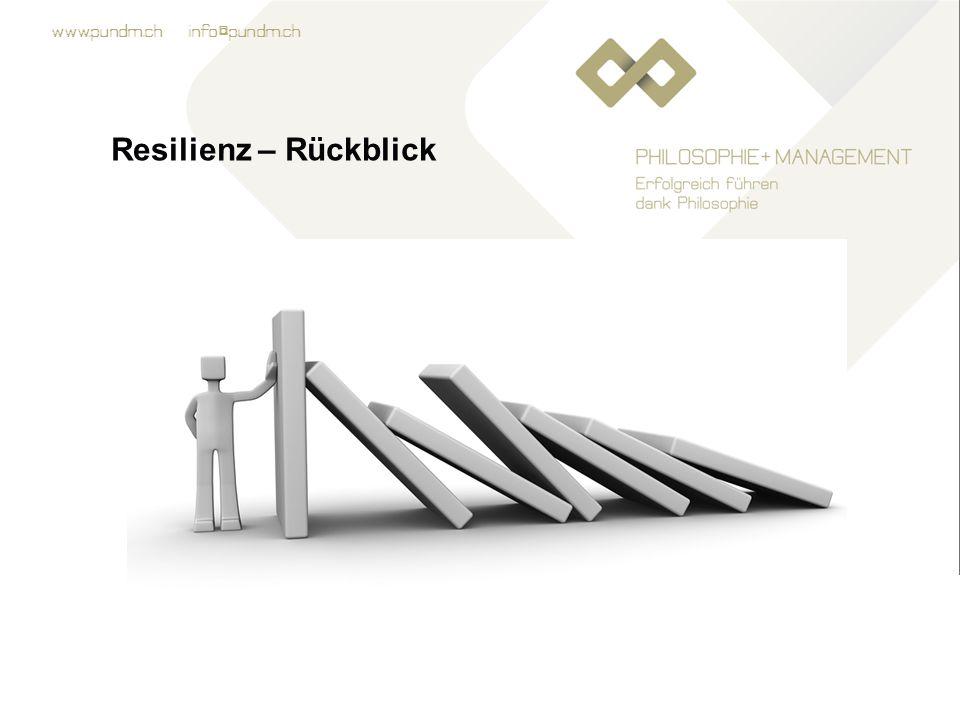 www.pundm.ch info@pundm.ch Resilienz – Rückblick Übung: Auswertung des