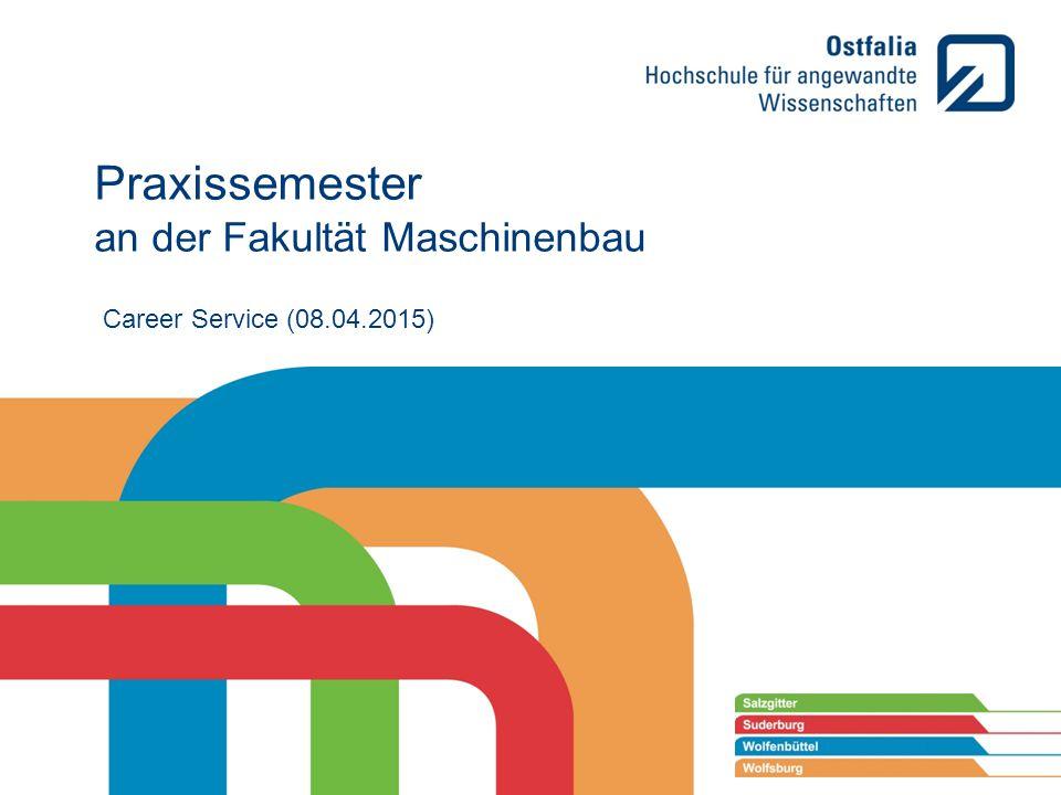 Career Service ( ) Praxissemester An Der Fakultät Maschinenbau