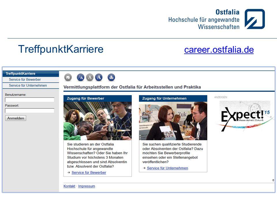 Webseiten: TreffpunktKarriere career.ostfalia.de