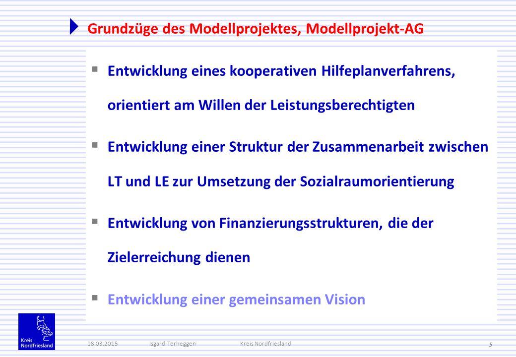 Grundzüge des Modellprojektes, Modellprojekt-AG  Entwicklung eines kooperativen Hilfeplanverfahrens, orientiert am Willen der Leistungsberechtigten 