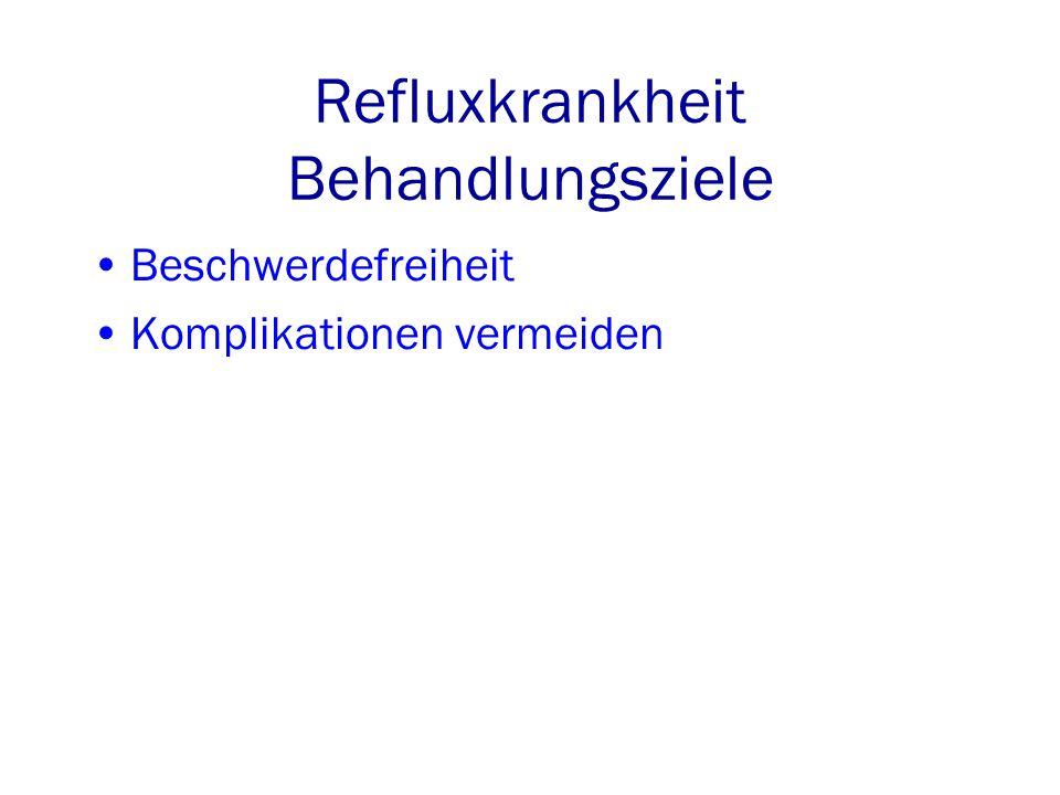 Refluxkrankheit Behandlungsziele Beschwerdefreiheit Komplikationen vermeiden