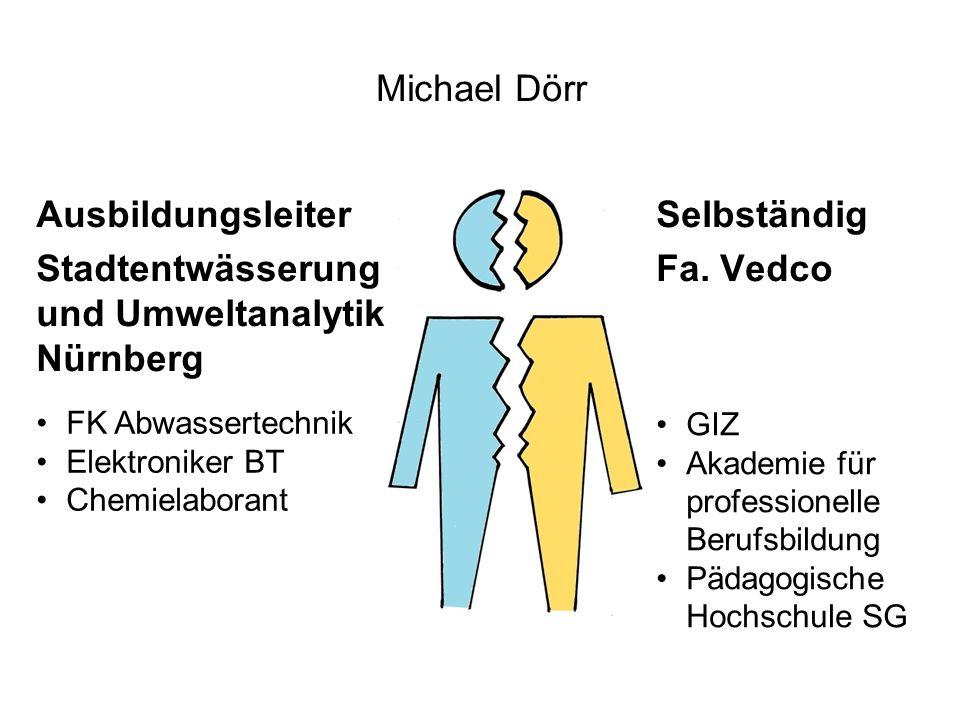 Michael Dörr Selbständig Fa. Vedco Ausbildungsleiter Stadtentwässerung und Umweltanalytik Nürnberg FK Abwassertechnik Elektroniker BT Chemielaborant G