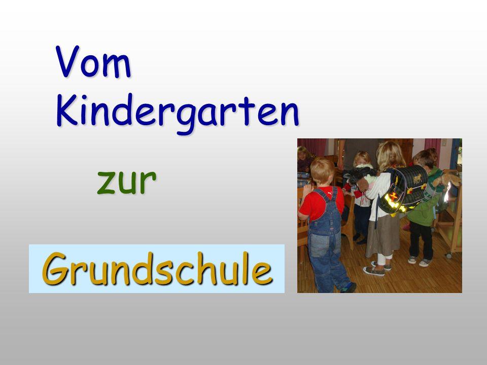 Vom Kindergarten Grundschule zur