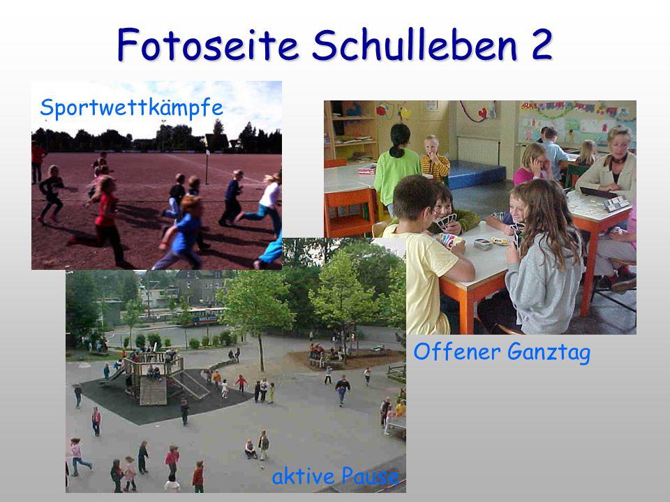 Fotoseite Schulleben 2 Offener Ganztag Sportwettkämpfe aktive Pause