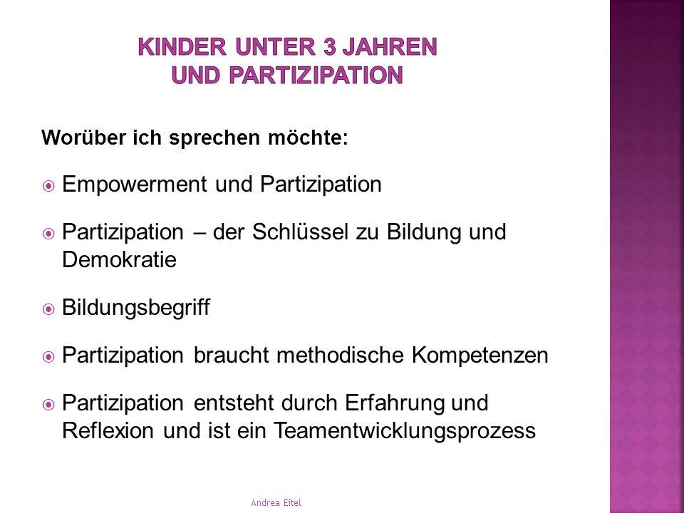 Kinder unter 3 Jahren und Partizipation Andrea Eitel