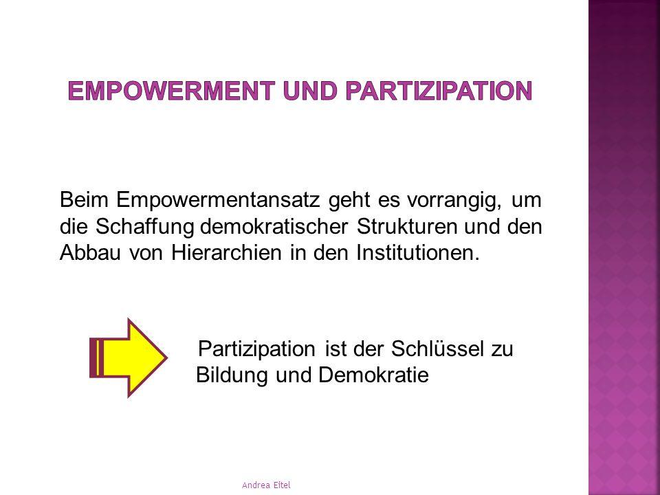 Worüber ich sprechen möchte:  Empowerment und Partizipation  Partizipation – der Schlüssel zu Bildung und Demokratie  Bildungsbegriff  Partizipati