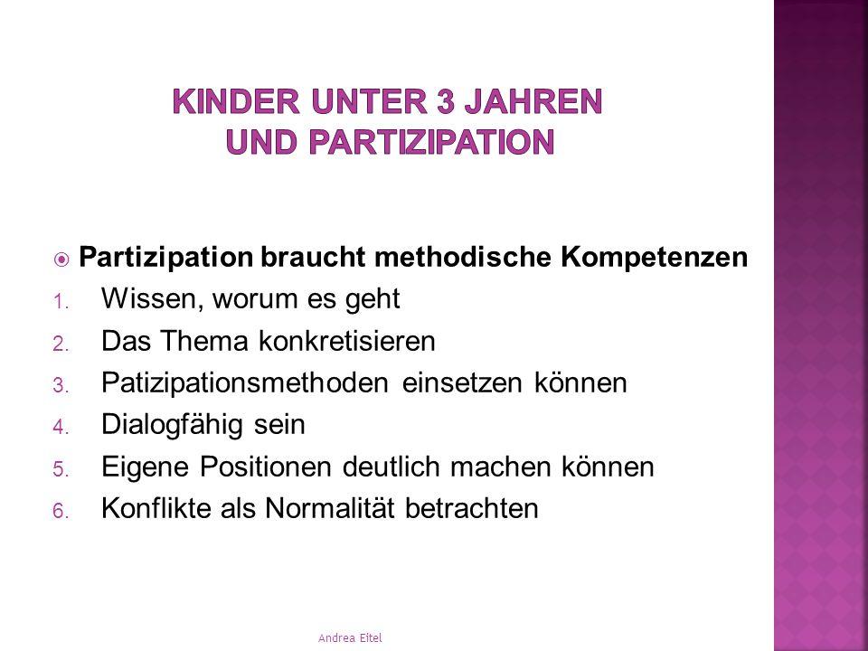  Partizipation beginnt in den Köpfen der Erwachsenen  Der Beginn von Partizipation liegt immer in den Händen von Erwachsenen  Kinder können entwick