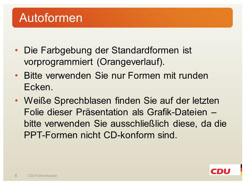 9 CDU Folienmaster Layout zum Einfügen eines Bildes.